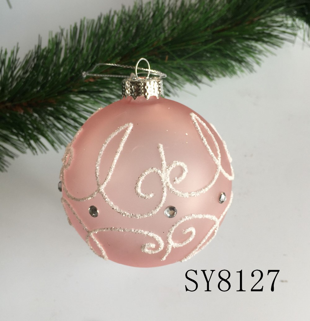 Wholesale Christmas Tree Decorations Pink Hanging Glass Ball Buy Pink Glass Ball Hanging Glass Ball Christmas Hanging Ball Product On Alibaba Com