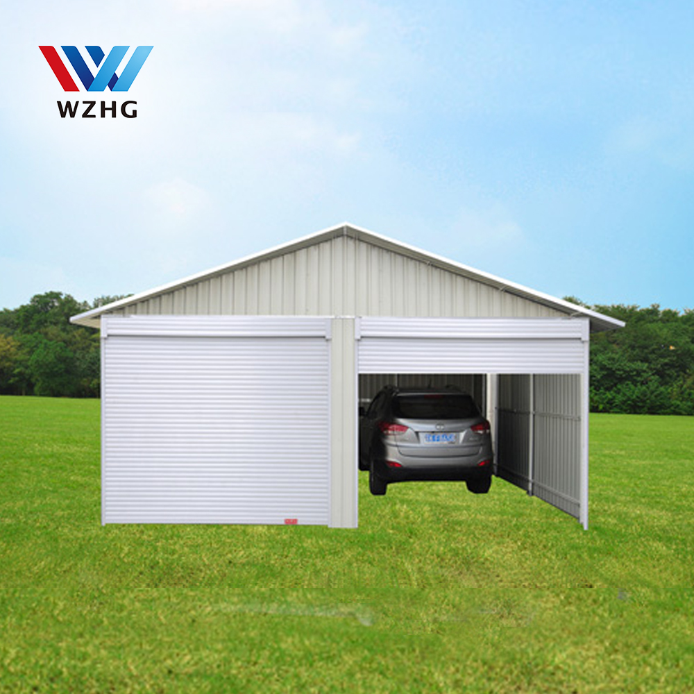 building steel sheds/prefabricated steel garage/prefab steel garage