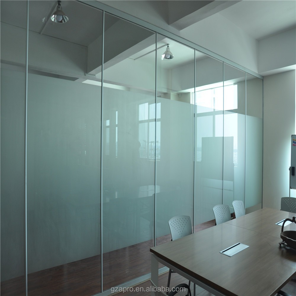 Aluminum partition board removable wall partitions glass panel price