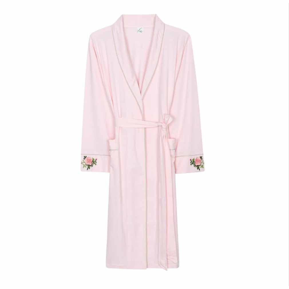 088ae99c36 Get Quotations · Pajamas Ladies Nightgown Traditional Dressing Gown With  Two Pockets Super Soft Thick Bath Robe Nightgown Gym