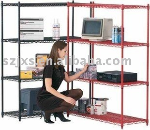 2014 hot sell powder coated&chrome wire shelving from directly manufacturer