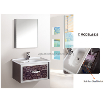 Commericial Stainless Steel Bathroom Vanity Tops Cabinet With