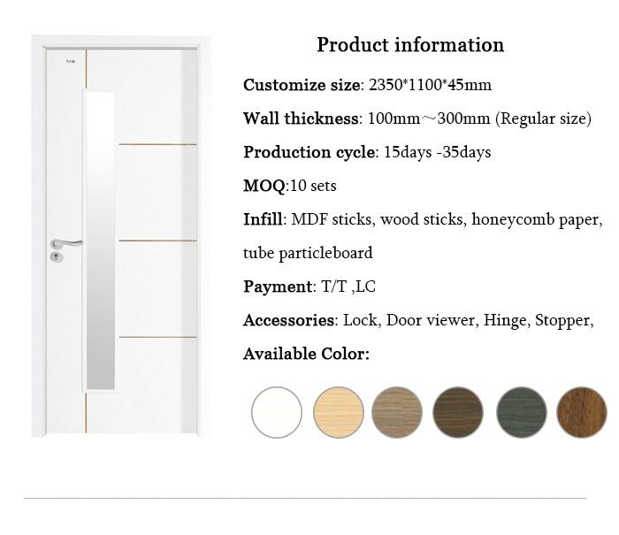 porte di legno con vetro all'ingrosso-acquista online i migliori ... - Design Della Porta In Legno Moderno Con Vetro