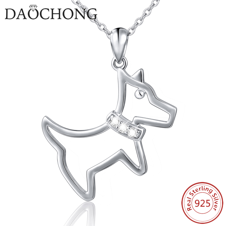 Factory Sale Manufacturer Wholesale 925 Sterling Silver Jewelry Silver Dog Necklace for Friends