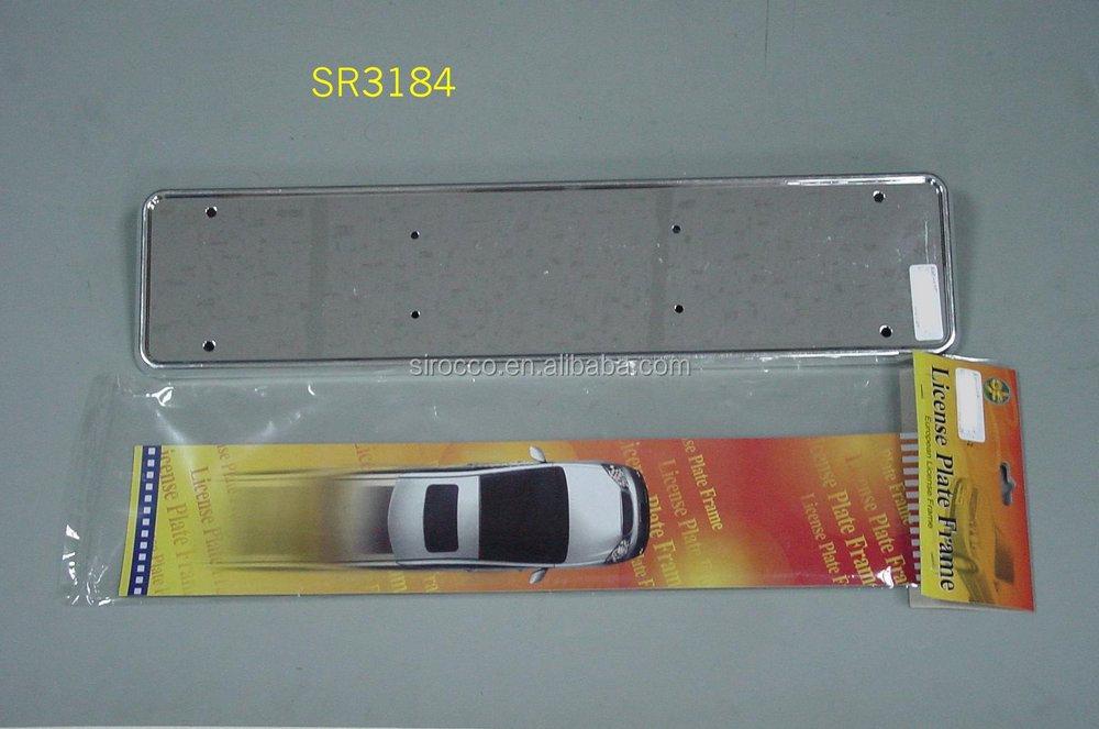 Auto Rear Euro Plastic Chrome Holder Bracket Car License Plate ...