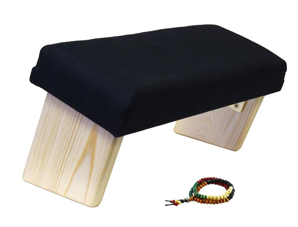Sgabello In Legno Pieghevole : Legno portatile yoga seiza inginocchiarsi meditazione panca