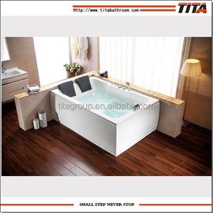Acrylic large rectangle bathtub for fat people