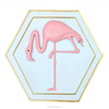 Modern polyresin flamingo 3d wall art painting