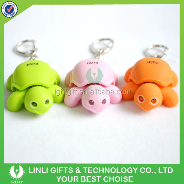 Give-away Gifts 3D Turtle Animal Lighting Keychain