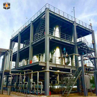 High output professional used waste tire pyrolysis machine to diesel plant waste engine oil recycling