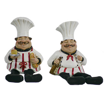 Little Fat Chef Man With Fabric Legs For Kitchen Decor