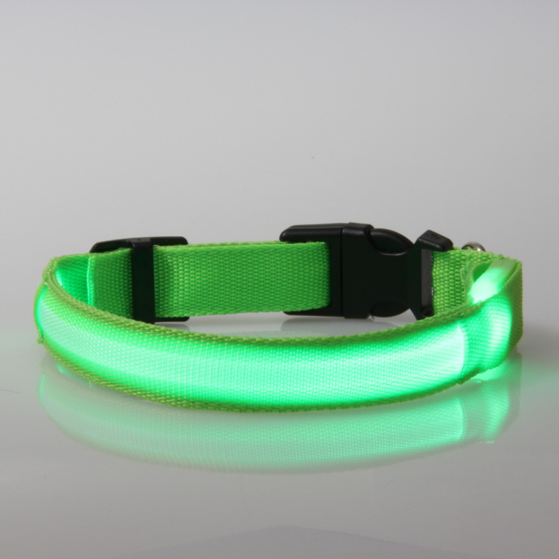 Pet dog cat sạc led dog collar 7 màu USB có thể sạc lại led dog collar