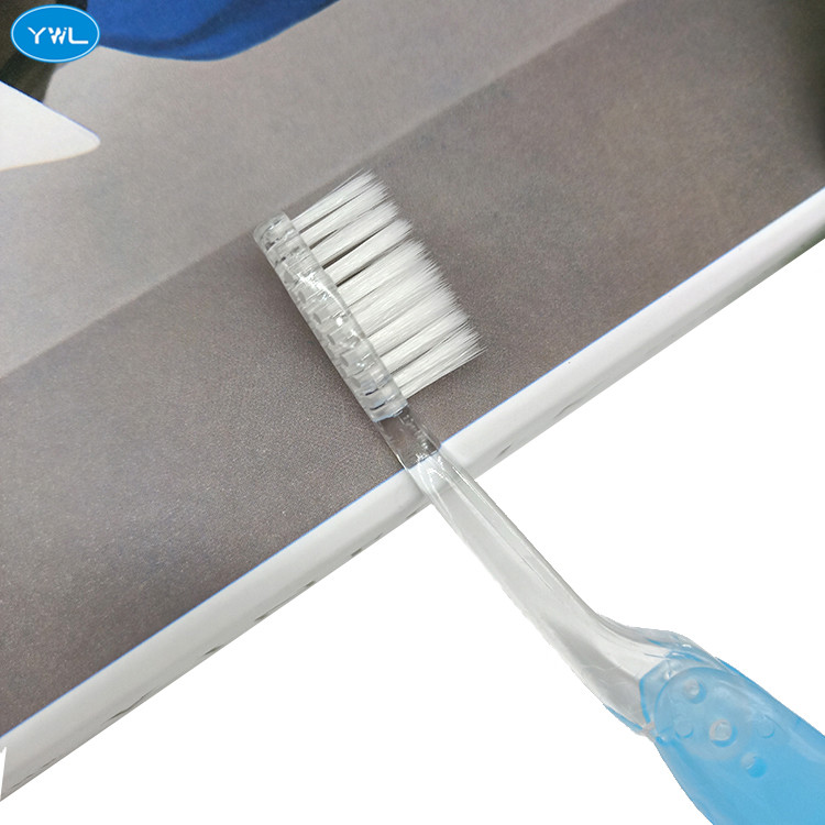 Hot sale customized disposable folding hotel plastic toothbrush
