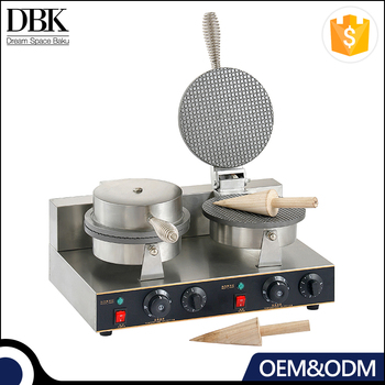 Good quality Stainless steel handle commercial ice cream waffle maker