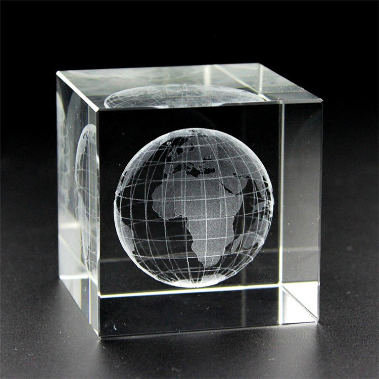 Promotional various 3d printing blank solid in clear glass cube