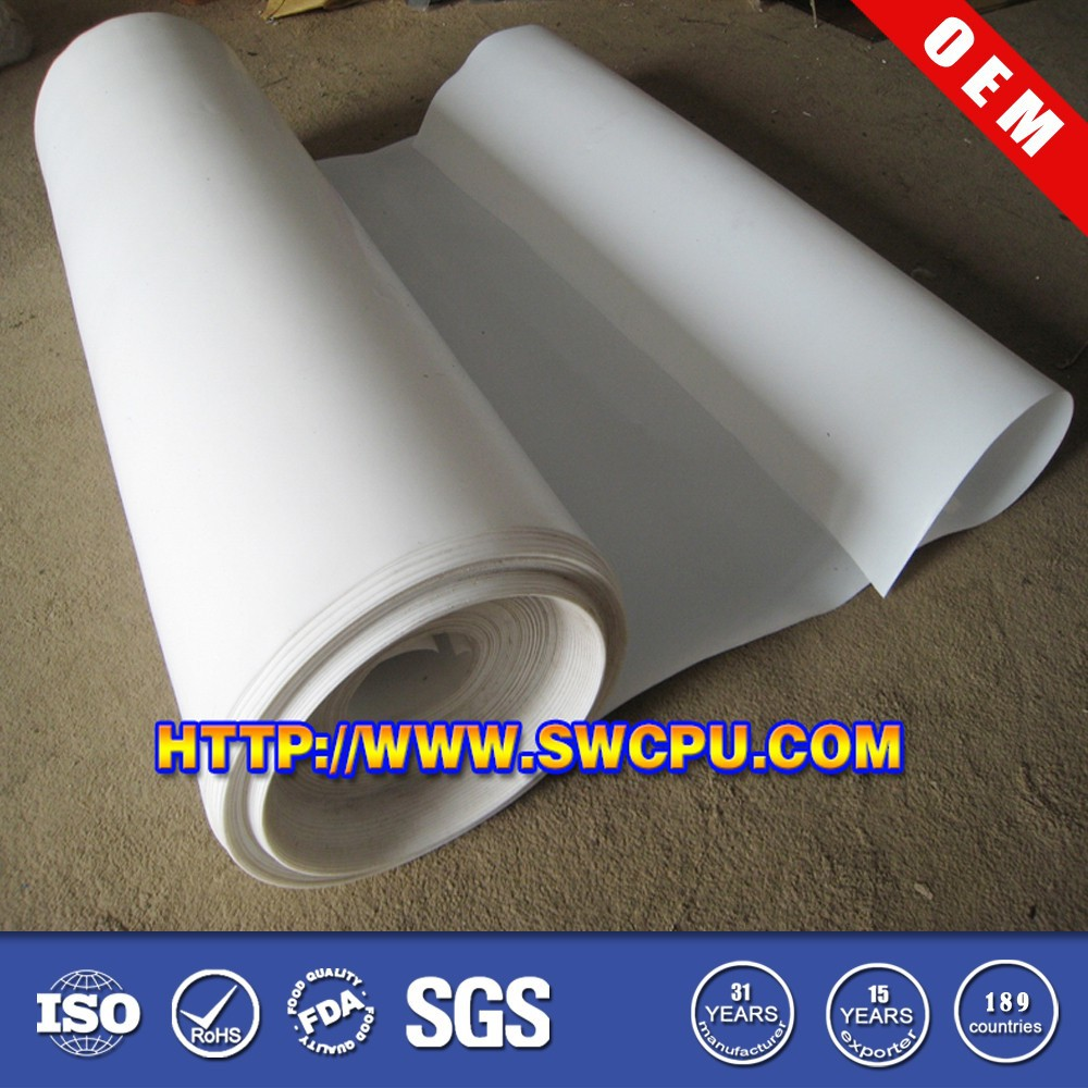 White thin 1mm rubber sheet rolls