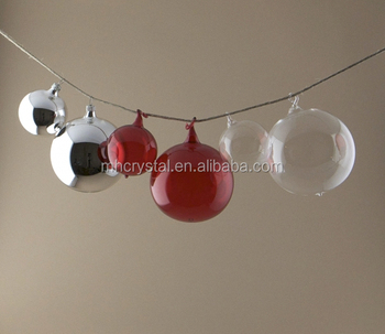 Hand Blown Hanging Clear And Coloured Glass Baubles Ball Mh 12613 Buy Glass Baubles Hanging Glass Bauble Hand Blown Glass Balls Product On