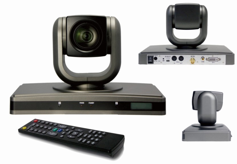 Integrated high speed pan/tilt video conference camera with multi- interface