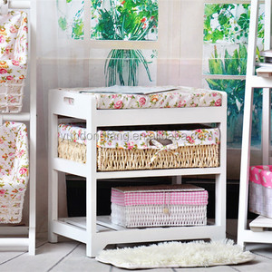 Factory direct sale sits stool ~ ~ Korean white rural style furniture queen-size bed stool wooden stool in shoes real wood