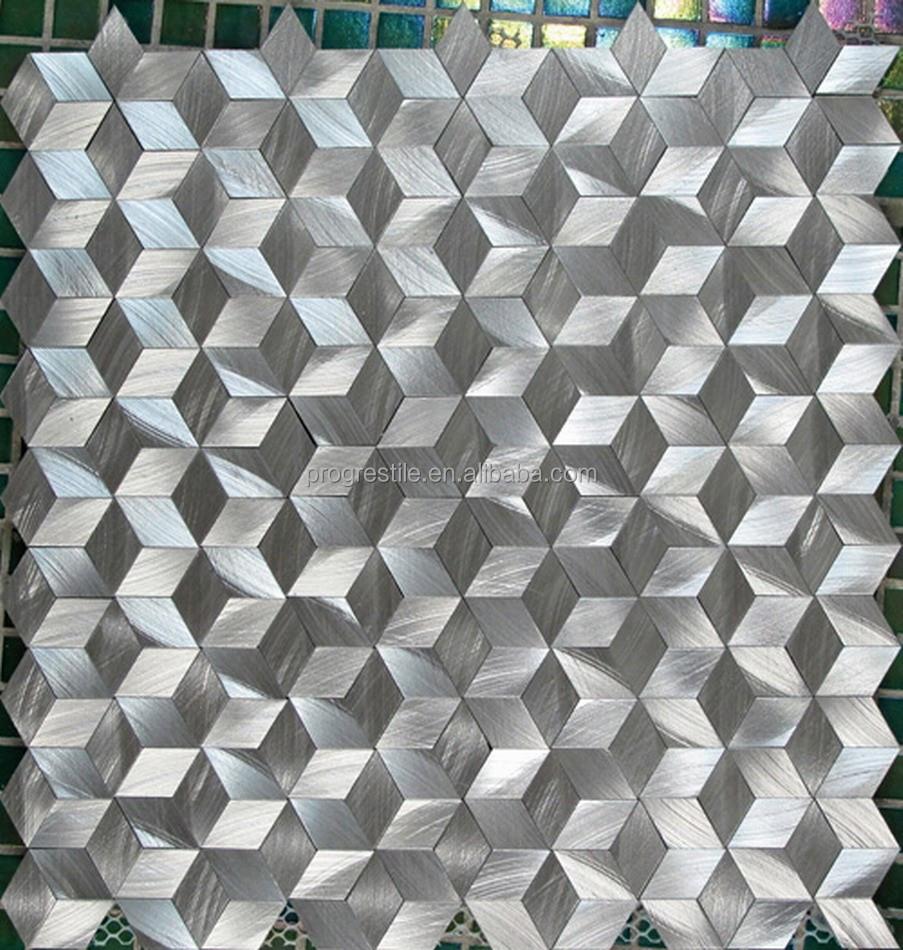 2015 nouvelle maison moderne design 3d diamant aluminium