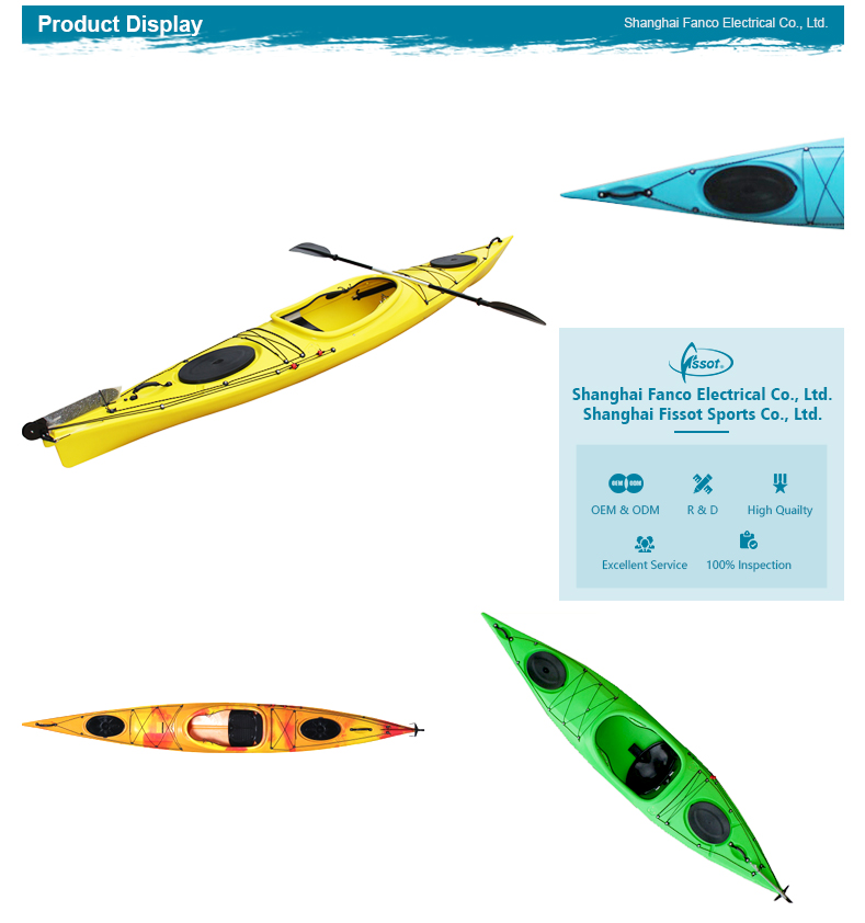 Brand new boat fishing canoe kayak, sit in top kayak, plastic kayak with paddle