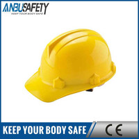 Good price industry PE safety helmet / safety hard hat with chin strap