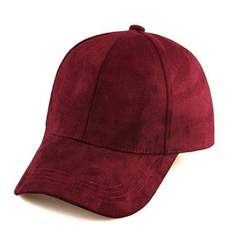 Oempromo wholesale custom leather suede baseball cap
