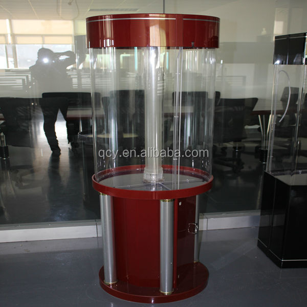 Cylinder acrylic decorative fish aquarium tank QCY-X5