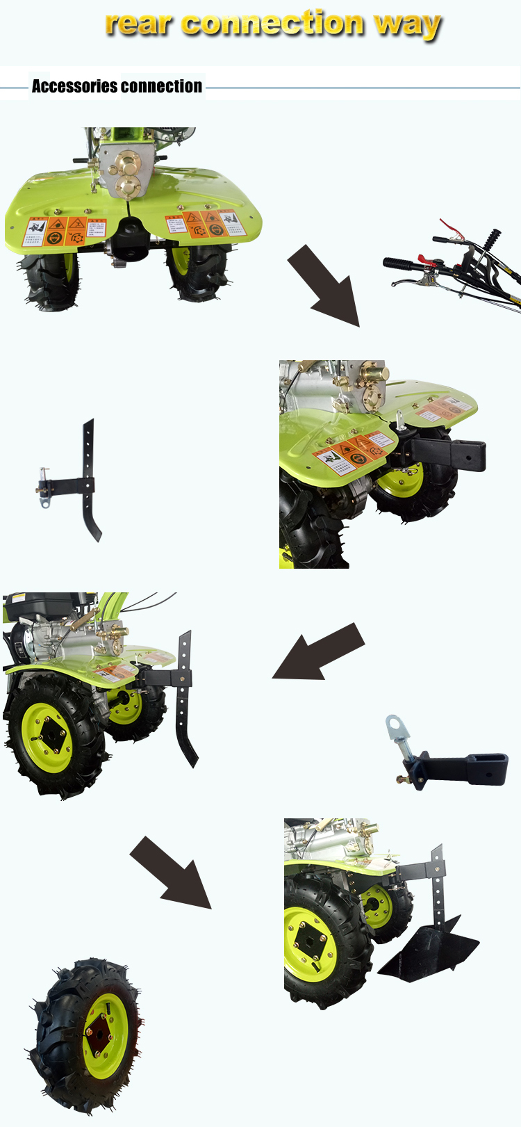 Top quality power tilling agricultural equipment