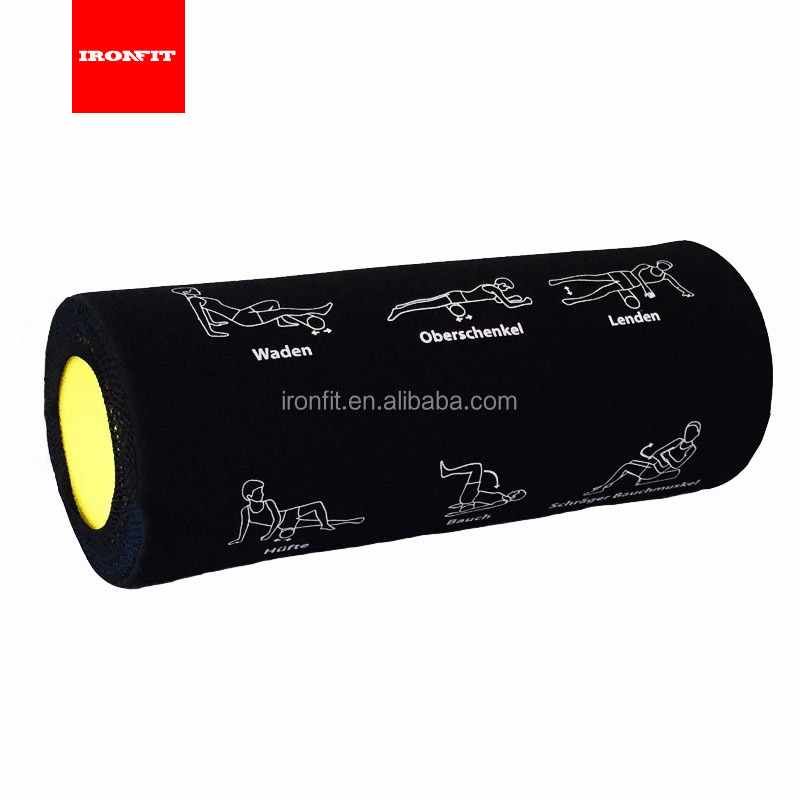 China Wholesale Yoga and Crossfit EPE Foam Roller With Cover