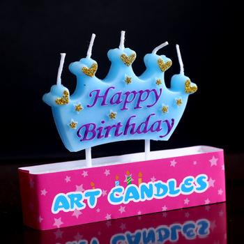 Cartoon Crown Vorm Engels Brief Party Decoratie Paraffine Verjaardagskaars Buy Verjaardag Kaarsparaffine Verjaardag Kaarscrown Verjaardagskaars