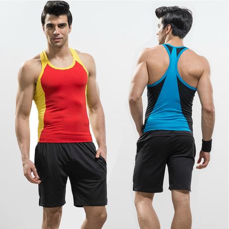 100 polyester dri fit men sport suit wholesale mens for Cheap workout shirts mens