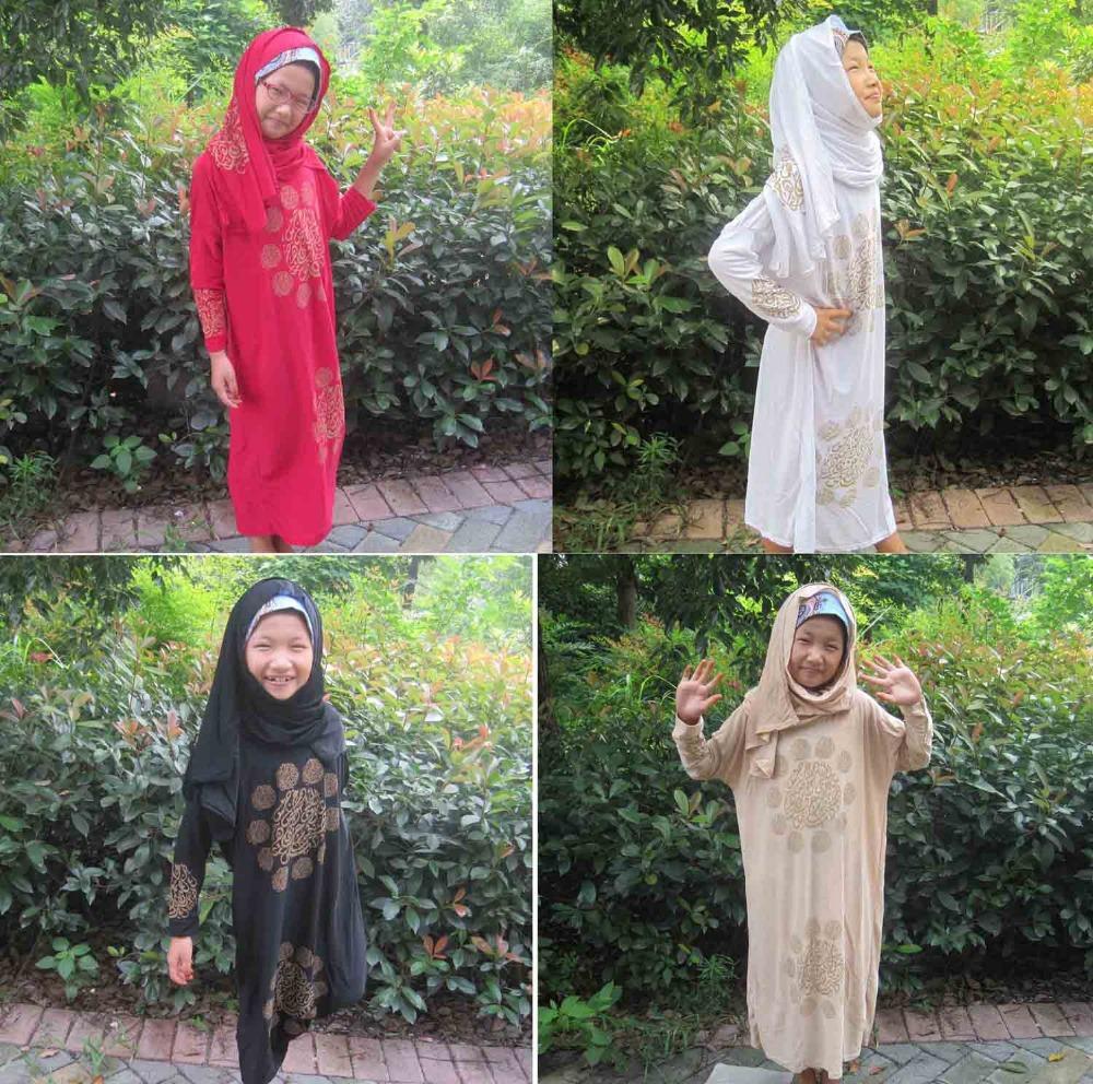 19cbf3e97f6e1 Jilbab Abaya Burka Hijab For Kid New Girls Maxi Dress Kids Full Length Muslim  Abaya