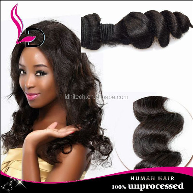 Best Ing Peruvian Human Hair Weave Virgin Soft Tangle Free Good Loose Wave Color