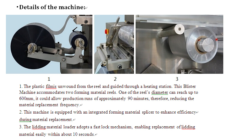 automatic blister packaging machine DPH-260