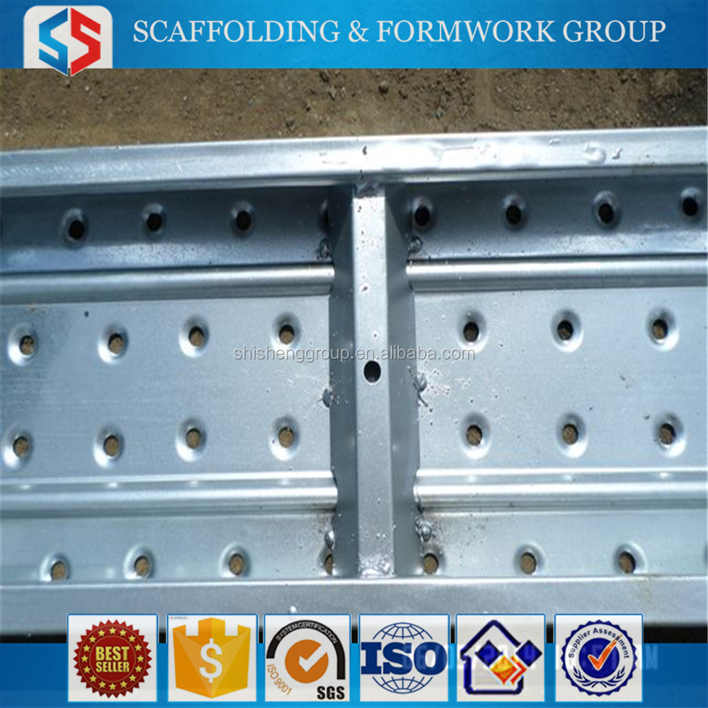 Tianjin SS Group Hot Dip Galvanized Perforated Steel Plank / Outdoor Metal Decking / Construction Metal Catwalk for Philippines