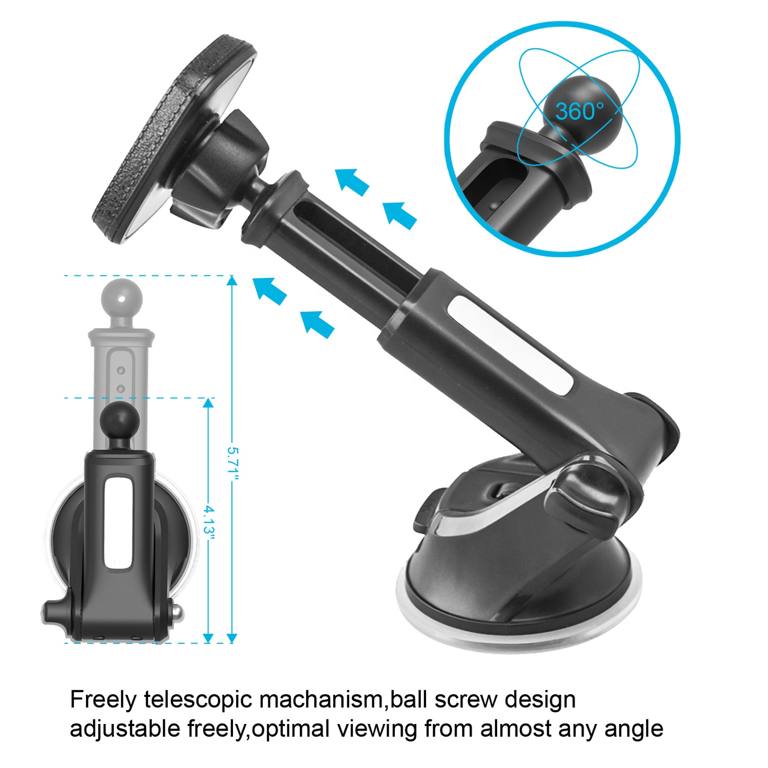 2019 new arrival universal telescopic dashboard magnetic car mobile phone holder