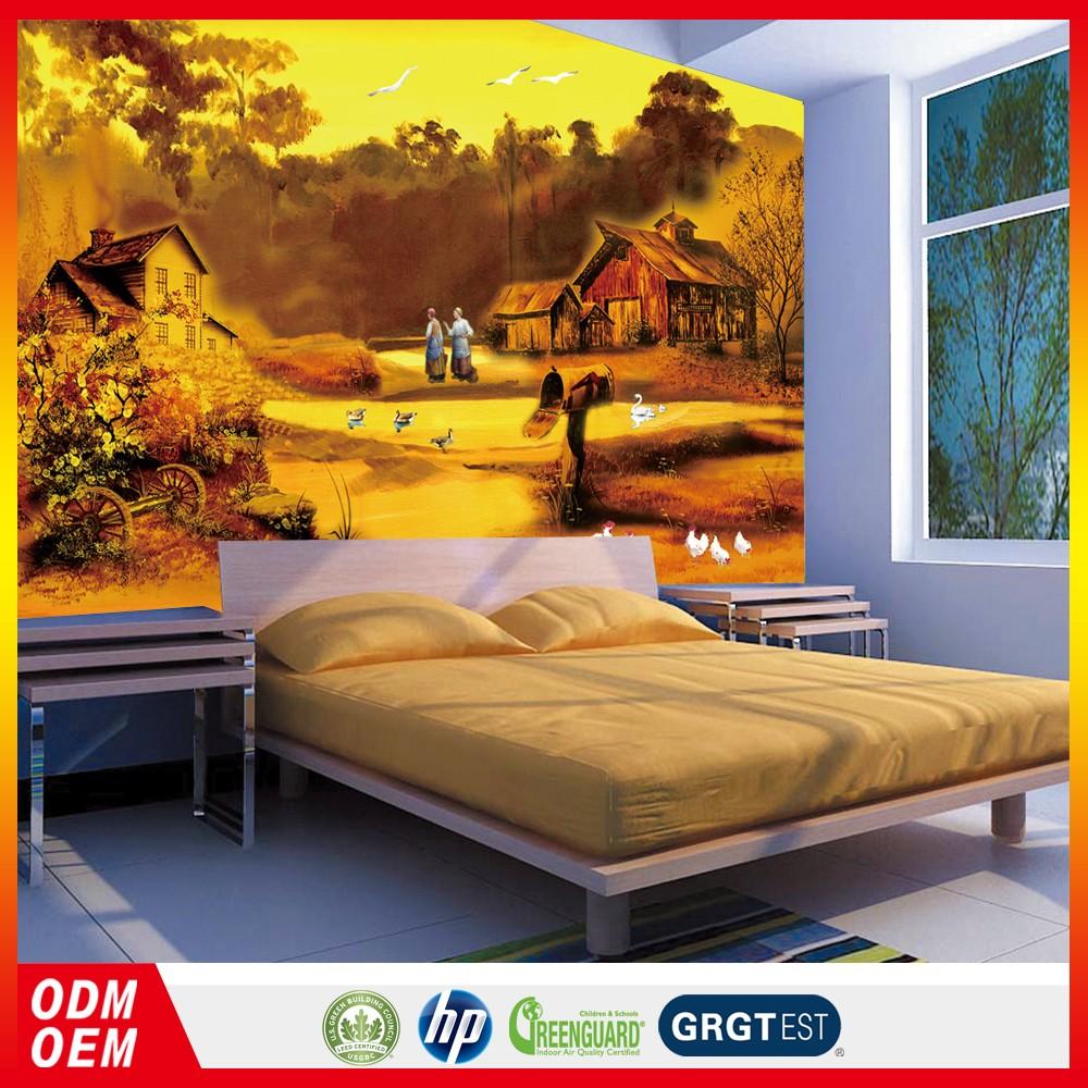 3d Kualitas Tinggi Eropa Damask Wallpaper 3d Dinding Alam Lukisan Wallpaper Mural Lukisan Buy Wallpaper Mural Lukisan Lukisan Alam Wallpaper 3d