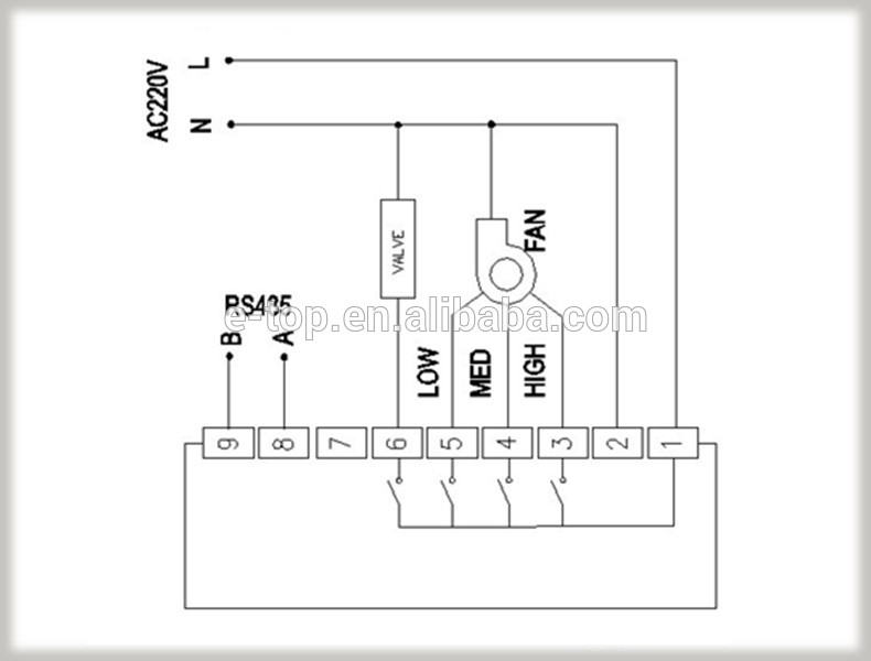 HTB1204vHpXXXXXZapXXq6xXFXXXt digital thermostat rs485 for fan coil buy thermostat rs485 fcu control wiring diagram at n-0.co