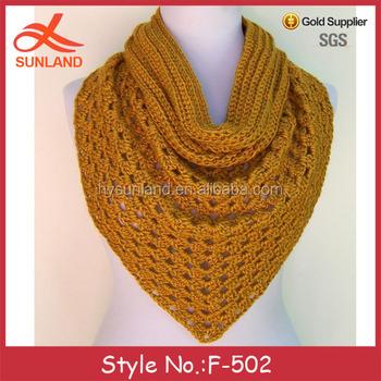F 502 New Crochet Knitting Pattern Triangle Scarf Winter Wholesale