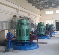 500kW Packaged Vertical Small Francis Turbine / Water Turbine and Hydro Power Generator