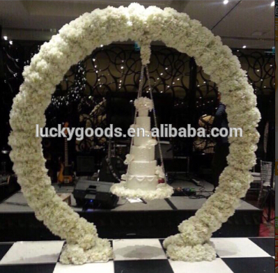 Wholesale Cream White Round Shape Wedding Metal Arch Buy