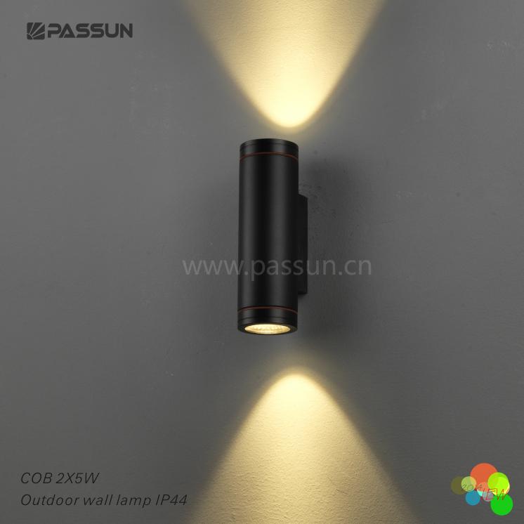 Pure Aluminium Waterproof Outdoor Led Wall Lamps 2*5w