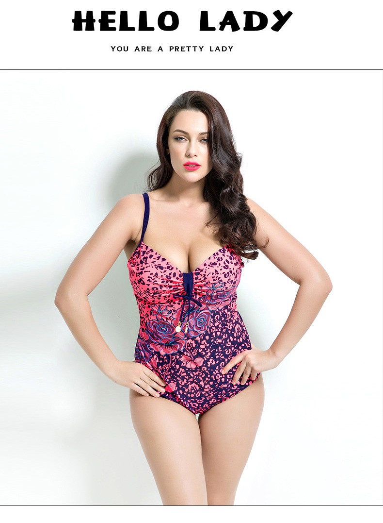 6fab7163c6 2019 2016 Summer Style Womens Plus Size One Piece Swimsuit Swimwear ...