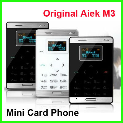 Aiek M3 Phone Mini Card Mobile Phone