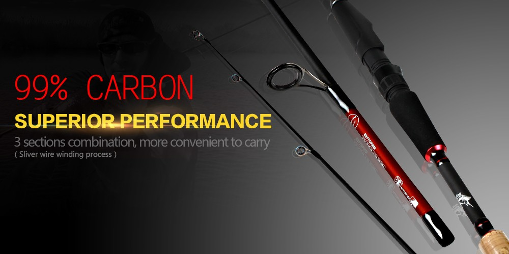 Ebay Amazon Best Selling Weihai Carbon Fiber Collapsible Fishing Rod Spinning Telescopic Fishing Rod
