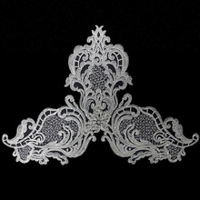 Commercio all'ingrosso handmade bead applique per nuziale abito da sposa in pizzo <span class=keywords><strong>ricamo</strong></span> <span class=keywords><strong>patch</strong></span>