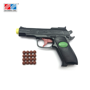 Promotional kids boys small realistic safe plastic bullet gun toy