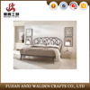 Modern style flat-iron double bed in welding wire