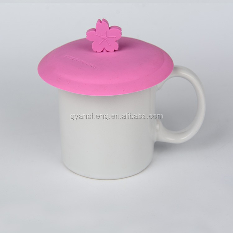Customized brand quality silicone rubber cup lid